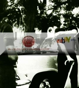 50's Elvis pulling up sleeve cane front car BW WATERMARKED