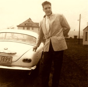 BMW Elvis standing beside RARE