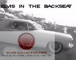 WM 1958 September Elvis in backseat car BW RARE