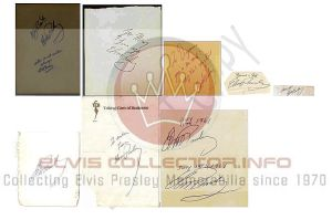 WM Elvis AUTOGRAPH montage of 8